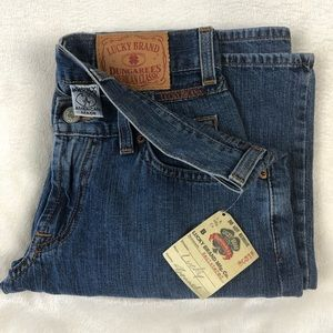NWT Lucky Brand Dungarees Jeans Mid Rise Flare 4